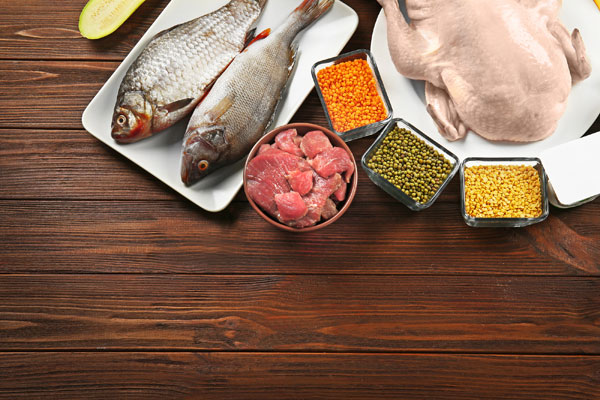 Meat, Seafood and Vegan Sources of Protein